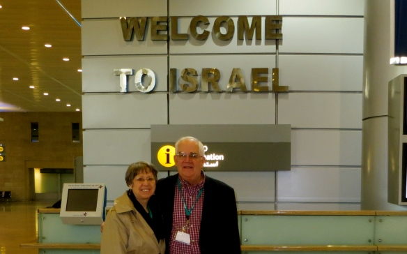 Glenda & Dave arrive at Tel Aviv airport