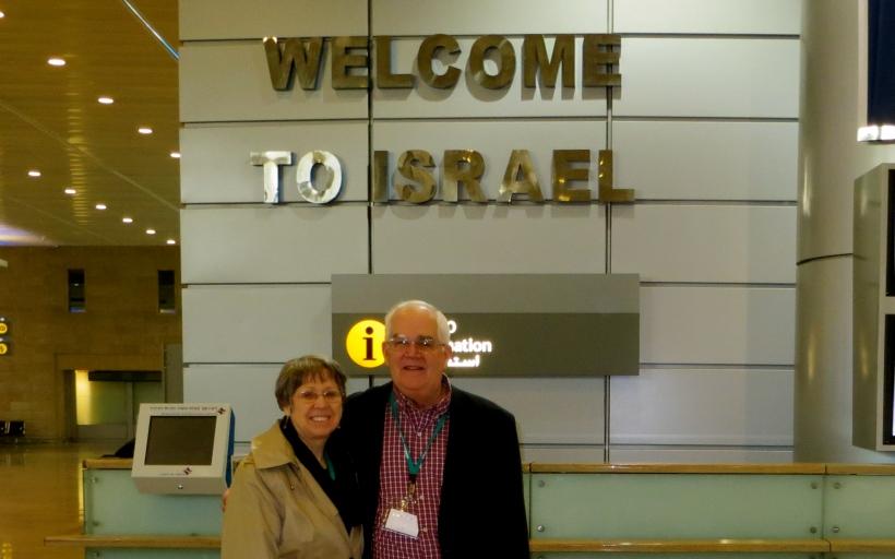 Glenda & Dave arrive at Tel Aviv airport